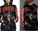 Razor evil invaders hoodie fullprint zipper women thumb155 crop