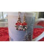 Handcrafted Pierced Earrings - Christmas Wreath - $5.00