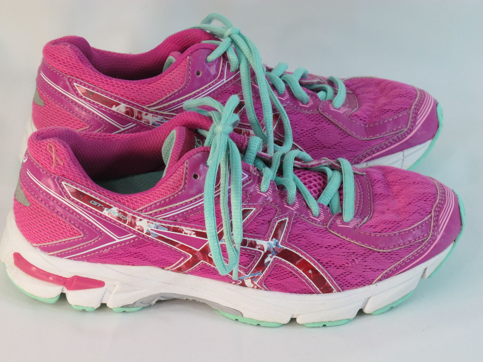 ASICS GT-1000 4 GS PR Running Shoes Girl's Size 4.5 US Excellent Plus Condition - $29.69