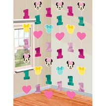 Minnie Mouse Fun to Be One 6 String Decoration 1st Birthday Party - €5,24 EUR