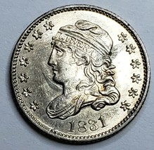 1831 Capped Bust Silver Half Dime 5 cent coin Lot 519-118