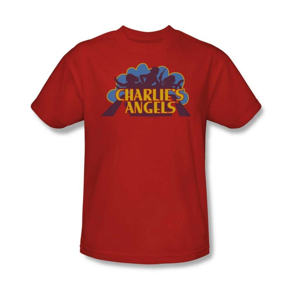 Charlie's Angels T-shirt logo retro 70's 80's TV series red graphic tee CA113