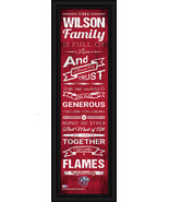 "Personalized Liberty University ""Flames"" 24x8 Family Cheer Framed Print - $39.95"