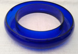 Cobalt Glass Posy / Pansy Ring Vase VERY RARE! image 1