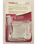 Closet Maid #6620 Side Wall Brackets for Drywall - Hardware for Wire She... - $10.00