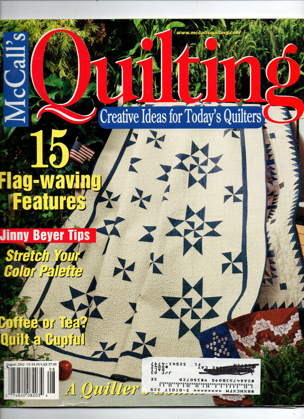 Primary image for August 2002/McCall's Quilting/Preowned Craft Magazine
