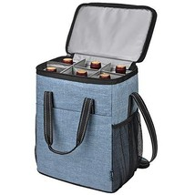 Kato 6 Bottle Wine Carrier, Insulated Leakproof Padded Wine Cooler Carry... - $468,87 MXN