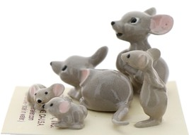 Hagen-Renaker Miniature Ceramic Mouse Figurine 5 Piece Family Set image 2