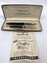 Vintage 594ms Sheaffer's Snorkel Clíper Juego, Pluma y Juego De Lápices ... - $129.64