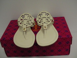 Women's tory burch slippers ivory miller veg nappa size 9.5 us new with box - $197.95