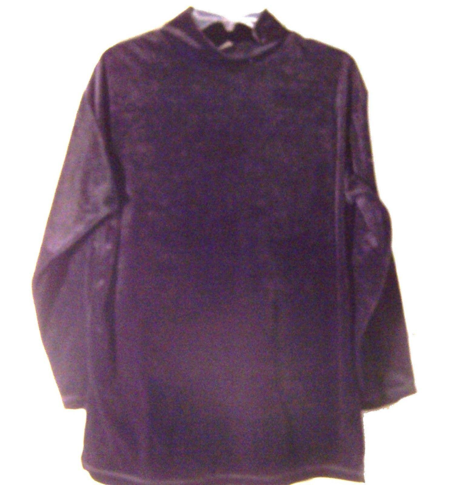 Sz L - NWOT Gilligan & O'Malley Velvet Hi Neck Long Sleeve Top Sz Small - $25.64