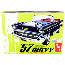 Skill 3 Model Kit 1957 Chevrolet Bel Air Convertible 2-in-1 Kit 1/16 Sca... - $84.77