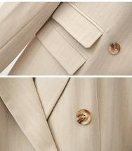 Women Lapel Coat Half Solid Short Pant Suit image 8