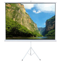 "50"" Tripod Stand Video Projector Screen Easy Fold-Out & Roll-Up Display ... - $49.99"