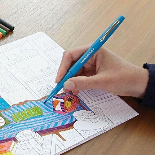 Flair Felt Tip Pen,(0.7mm)bold, colorful lines ,Black,smear-resistant ink