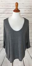 Splendid Gray Boxy Stretch Knit Top sz Large - $17.81