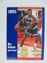 Nick Anderson Orlando Magic 1991 Fleer Basketball Card 143 - $0.98