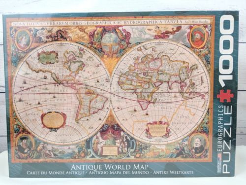 Antique World Map Puzzle.Eurographics 1000 Piece Antique World Map And 50 Similar Items