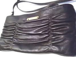Michael Kors Black Leather Pleated Crossbody Bag - $55.43