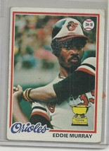 Baseball EDDIE MURRAY ROOKIE card   Topps 1978  #36  EXMT - $9.58