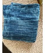 west elm Striated Velvet Duvet  in regal blue 92x98 - $140.25