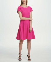 DKNY Tulip Sleeve Fit & Flare Dress Watermelon Size 6 $119 - $37.99