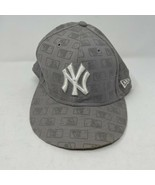 Vintage New Era Wool New York Yankees Fitted Hat Size 7 3/8 - $19.79