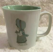 1987 Enesco Precious Moments Coffee Mug Cup December - $19.34