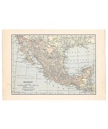 Map 1922 Mexico Map Antique Wall Decor Suitable for Framing Collage Trav... - $14.99