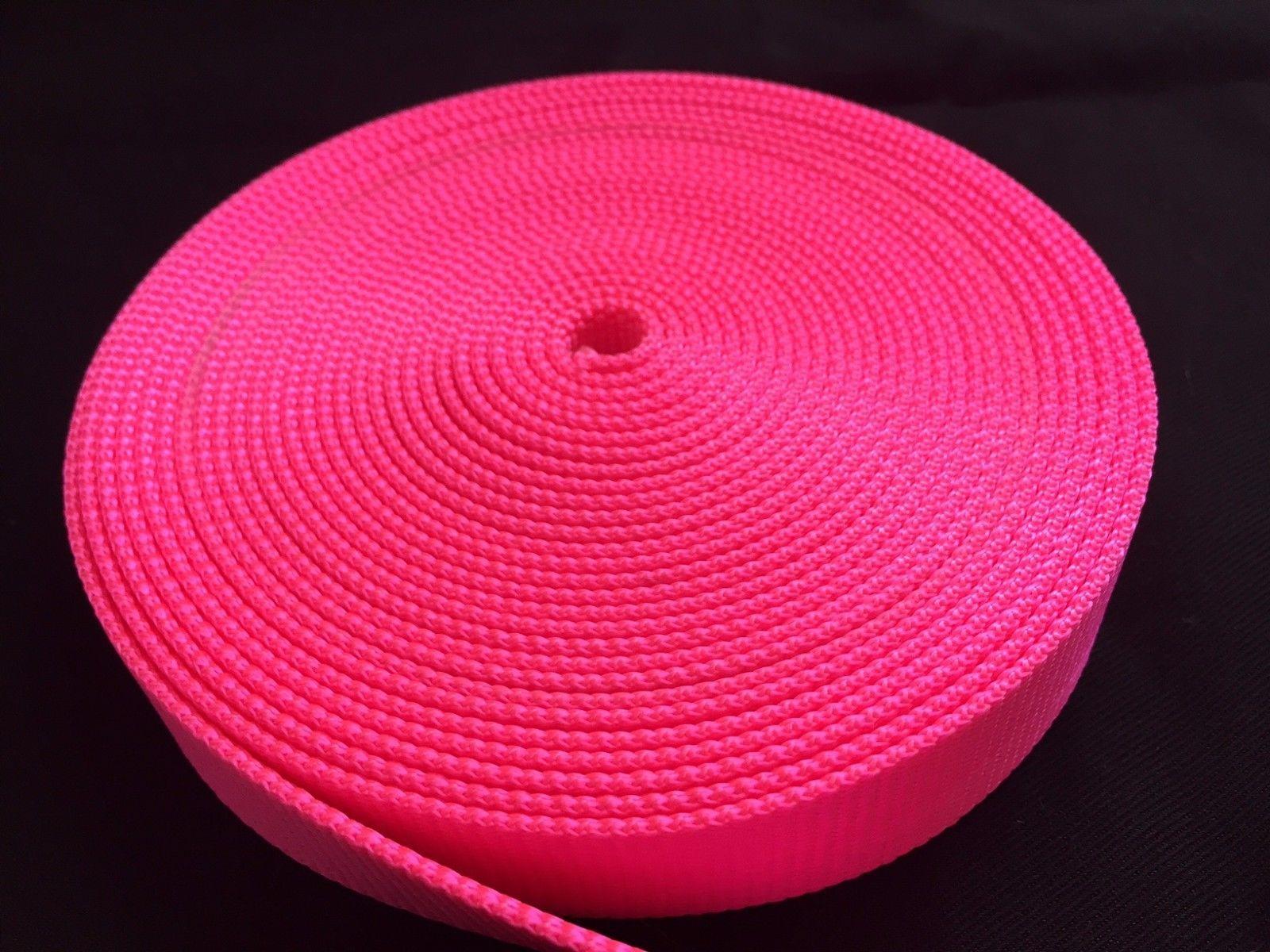 "1 Inch Width Nylon Webbing - Hot Pink strap ( 1"" Width Heavy Nylon ) for sale  USA"