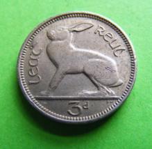 Ireland 1963 Irish Threepence Coin With Luster Bunny Rabbit Celtic Harp ... - $4.99