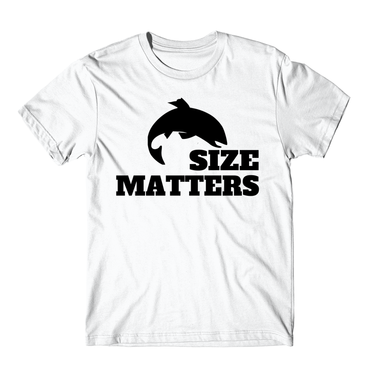 Funny Quotes About Size Matters: Size Matters Fishing Funny Fishing T-Shirt