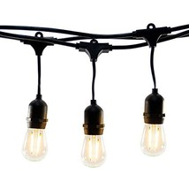 Hyperikon LED Outdoor Commercial String Lights, 24ft with 10 Hanging Soc... - €42,81 EUR
