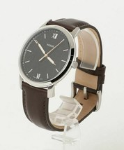 New! Fossil Minimalist Brown Leather Strap Black Dial FS5464 Mens Watch - $78.10