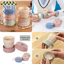 3Pcs Portable Wheat Baby Telescopic Drinking Cup Collapsible Folding Cup... - $8.88