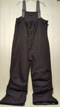 Lands End Mens Ski Snow Bibs Size XL Black with Adjustable Suspenders In... - $23.47