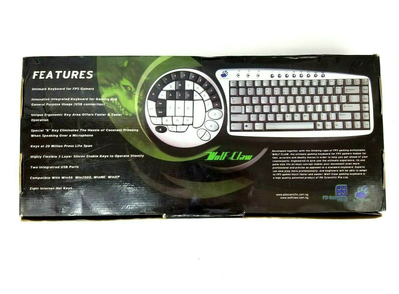 Wolf Claw II The Ultimate Gaming Keyboard for FPS Gamers SK-6745 - New Open Box image 3