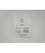 Giani Bernini Cubic Zirconia Sterling Silver 4 Pairs of Earrings - New - $29.70