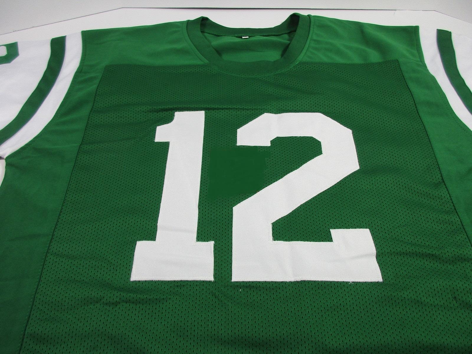 367424a6939 JOE NAMATH - NFL HALL OF FAME - HAND SIGNED NEW YORK JETS CUSTOM JERSEY -