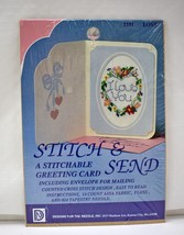 Stitch & Send Love Greeting Card Counted Cross Stitch Kit-Designs For th... - $9.45