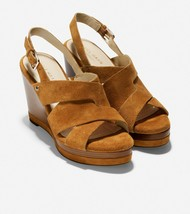 Women's Cole Haan Laci Platform Wedge Sandals, W16888 Multiple Sizes British Tan - $99.95