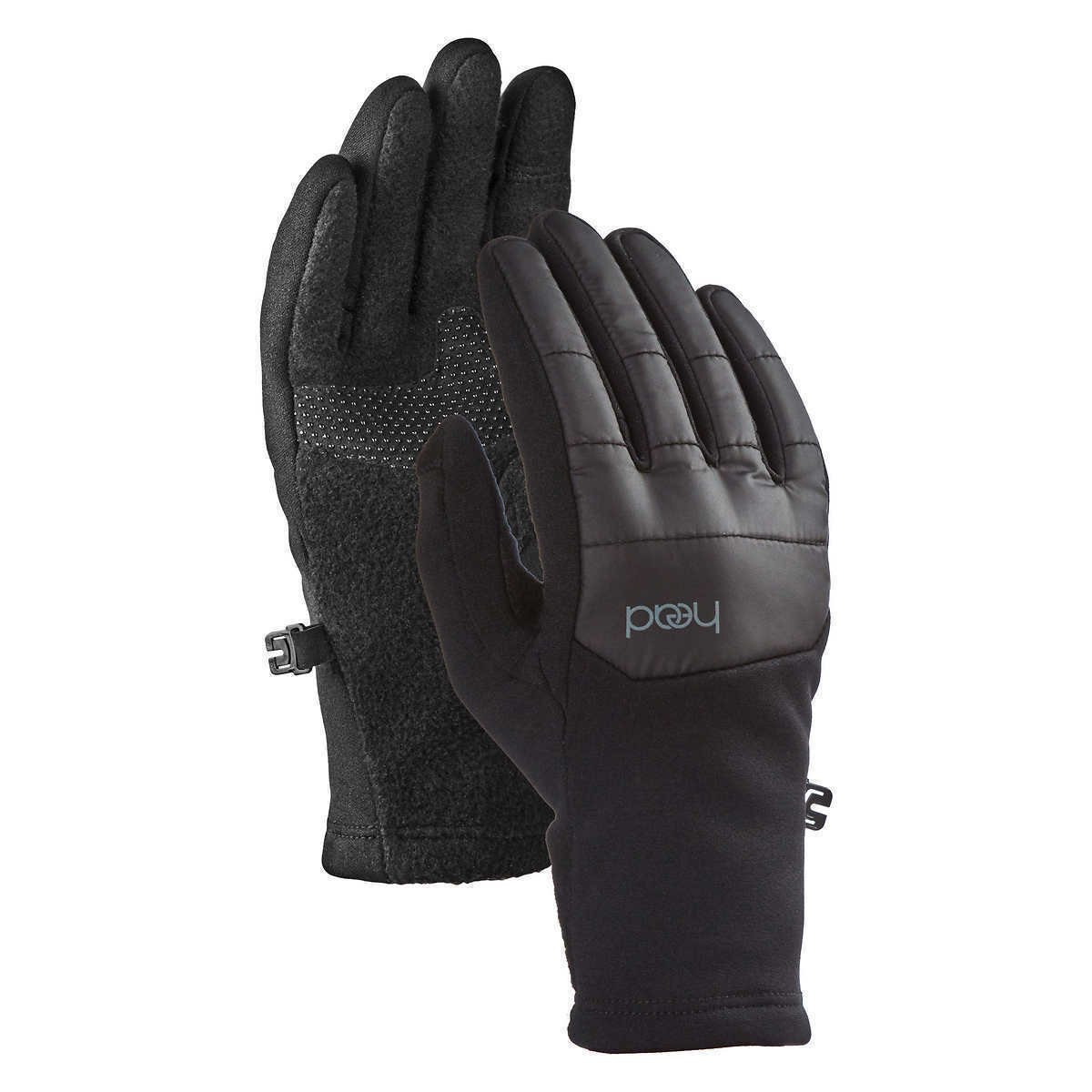 HEAD Jr Junior Girls Black Silver Hybrid Sensatec Touchscreen Winter Gloves NWT