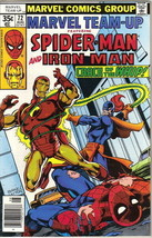 Marvel Team-Up Comic Book #72 Spider-Man and Iron Man 1978 VERY FINE- - $3.75