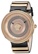 Versace VLC010016 V-metal Icon Gold IP Steel Ladies Watch - $2,588.32