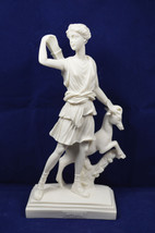 Artemis with deer sculpture statue Ancient Greek Goddess of hunt Diana - $39.90