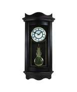 Bedford Clock Collection 25 Inch Chiming Pendulum Wall Clock in Weathere... - $137.65