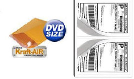 "#DVD BUBBLE MAILERS Padded Envelopes 6.5"" X 9"" 250Ct + 200 Self Stick La... - $39.58"