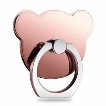 4pcs Cartoon Bear Shape Phone Finger Ring 360 Degree Rotating Ring Grip Anti image 4