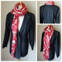 Denim & Co Women's Jean Jacket Dark Wash Blazer 3 Button + Pink Summer S... - $36.26