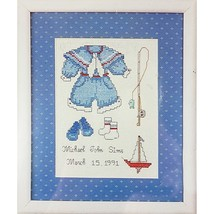Our Little Boy Counted Cross Stitch Kit 8 x 10 Weekenders 02755 c2611 - $12.99